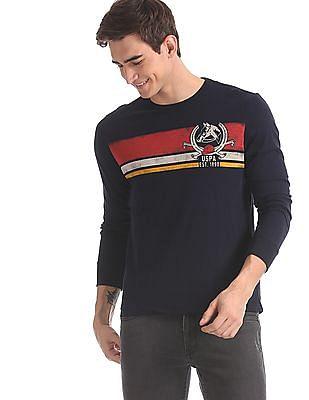U.S. Polo Assn. Denim Co. Blue Long Sleeve Graphic T-Shirt