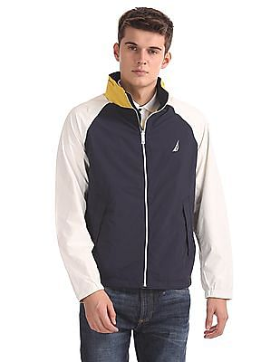Nautica Classic Fit Colour Blocked Reversible Jacket