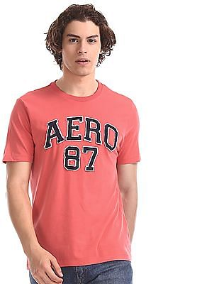 Aeropostale Pink Brand Applique Cotton T-Shirt