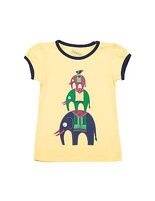 Cherokee Girls Graphic Print T-Shirt
