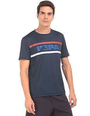 USPA Active Crew Neck Printed Active T-Shirt