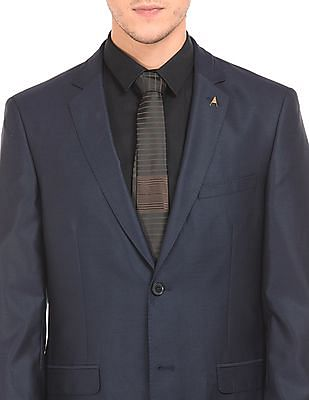 Arrow Regular Fit Two Piece Wool Suit