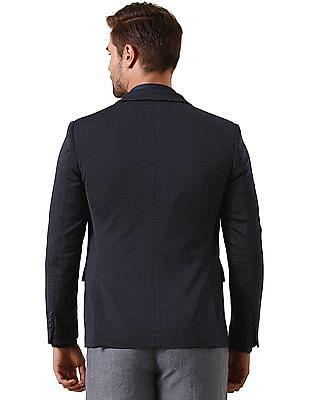 True Blue Slim Fit Structured Knit Blazer