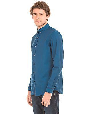 Excalibur Button Down Collar Slim Fit Shirt