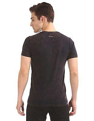 Ed Hardy Embellished Front Washed T-Shirt