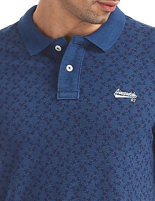 Aeropostale Regular Fit Printed Polo Shirt