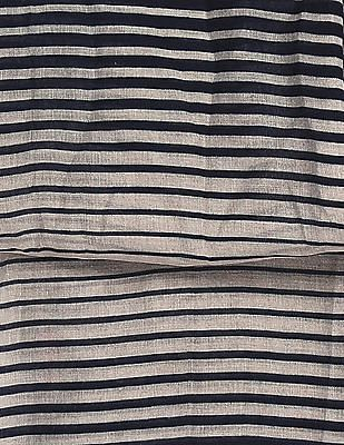 SUGR Navy And Grey Striped Stole