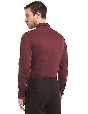 True Blue Slim Fit Jacquard Shirt