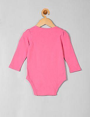 GAP Baby Pink Graphic Long Sleeve Bodysuit