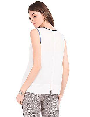 Nautica Pleated Front Classic Fit Top