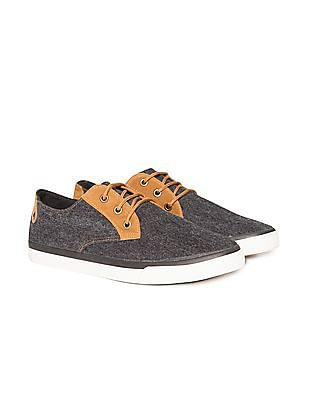 Colt Suedette Trimmed Canvas Sneakers