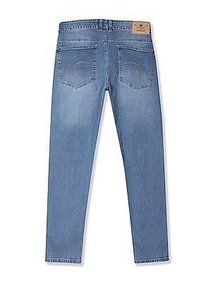 Cherokee Blue Slim Fit Faded Jeans