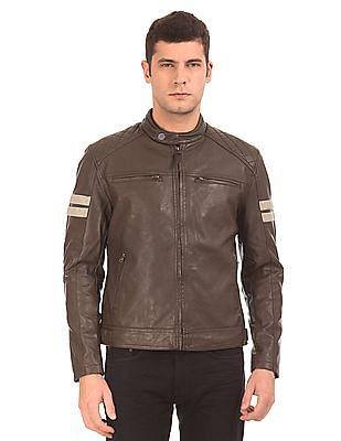Ed Hardy Mandarin Collar Biker Jacket