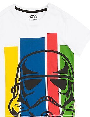 FM Boys Boys Crew Neck Star Wars Printed T-Shirt