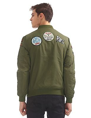 Flying Machine Appliqued Bomber Jacket