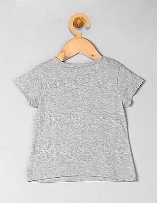 GAP Toddler Girl Grey Graphic T-Shirt