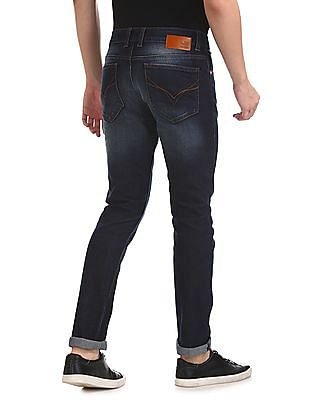 Flying Machine Michael Slim Tapered Fit Dark Wash Jeans