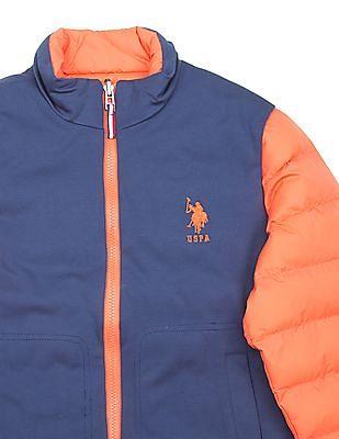 U.S. Polo Assn. Kids Boys Padded Reversible Jacket