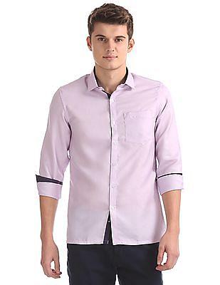 Excalibur Patterned Weave Long Sleeve Shirt