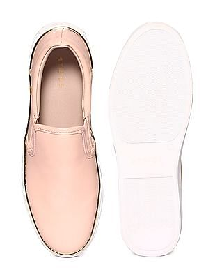 Stride Pink Metallic Accent Slip On Shoes