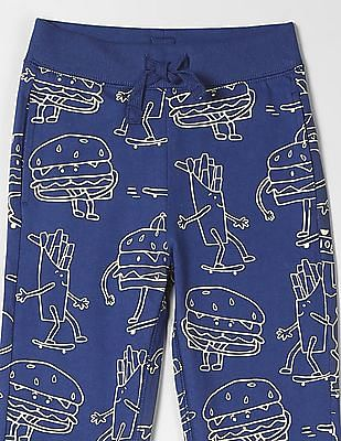 GAP Toddler Boy Print Pull-On Pants
