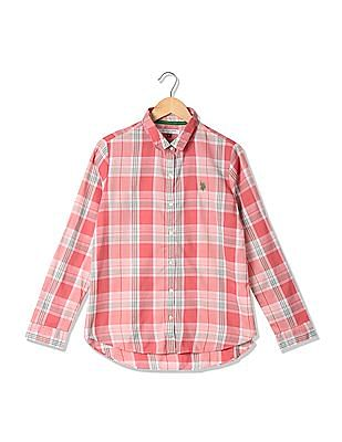 U.S. Polo Assn. Women Standard Fit Check Shirt