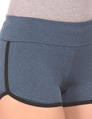 Aeropostale Heathered Elasticized Waist Dolphin Shorts