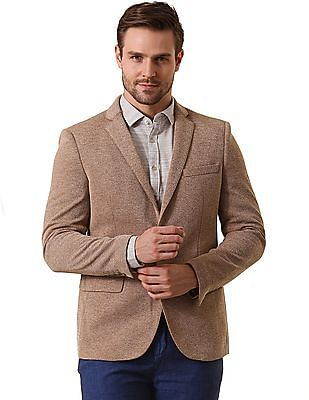 True Blue Slim Fit Knitted Blazer