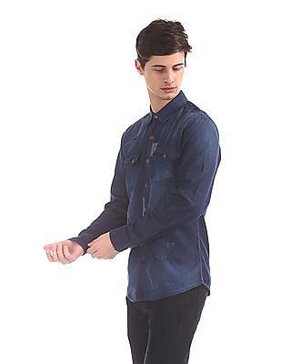 Cherokee Dual Pocket Chambray Shirt