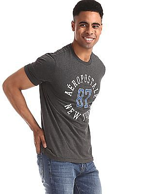 Aeropostale Grey Brand Print Crew Neck T-Shirt