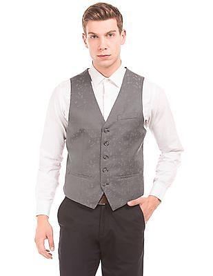 Arrow Regular Fit Jacquard Waistcoat