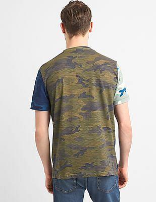 GAP Men Multi Colour Short Sleeve Camo T-Shirt