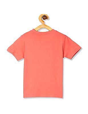 Cherokee Pink Boys Printed Short Sleeve T-Shirt