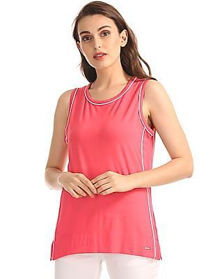Nautica Top With Piping Detail