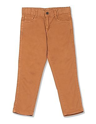 Cherokee Boys Cotton Stretch Solid Trousers
