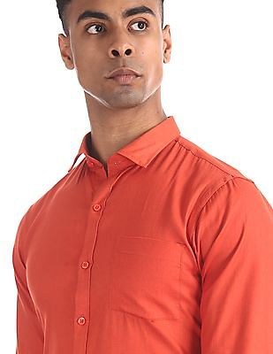 Excalibur Assorted Patch Pocket Textured Shirt - Pack Of 2
