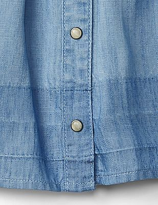 GAP Toddler Girl Blue Tencel Dip-Dye Flippy Skirt