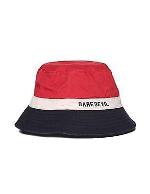 Flying Machine Colour Block Cotton Twill Bucket Hat