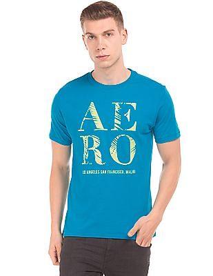Aeropostale Printed Slub Knit T-Shirt