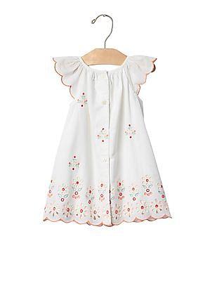 GAP Baby Bright Eyelet Flutter Dress