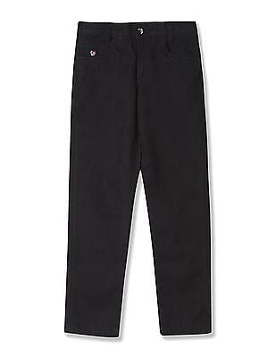 U.S. Polo Assn. Kids Boys Solid Twill Trouser