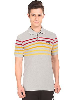 Aeropostale Striped Pique Polo Shirt