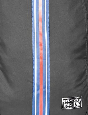 Flying Machine Striped Panel Laptop Backpack