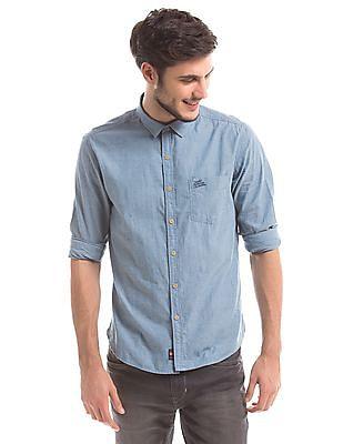 U.S. Polo Assn. Denim Co. Slub Slim Fit Shirt