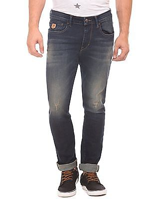 U.S. Polo Assn. Denim Co. Lightly Distressed Whiskered Jeans