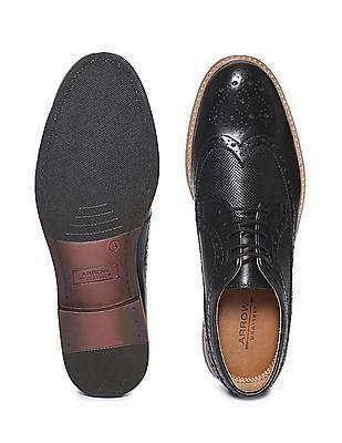 Arrow Wingtip Perforated Brogue Shoes