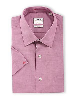 Arrow Pink Patch Pocket Patterned Shirt