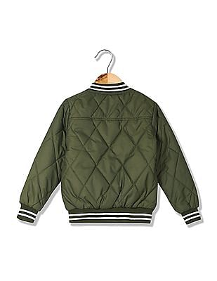FM Boys Boys Quilted Bomber Jacket