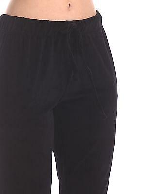 SUGR Black Insert Pocket Velveteen Joggers