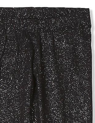 U.S. Polo Assn. Kids Girls Glitter Embellished Leggings